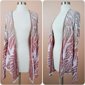 NIC+ZOE Draped Cardigan Boho Wrap Around Front M